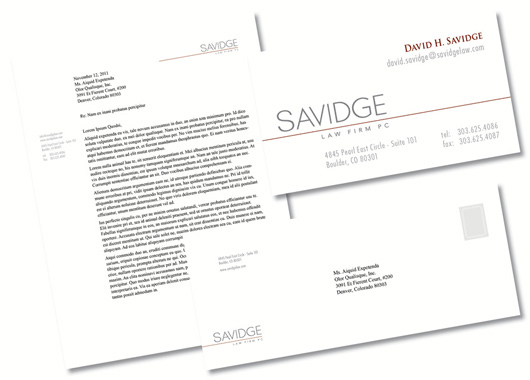 Savidge Law Firm Collateral Package